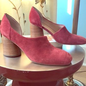 Beautiful red suede shoes from Anthropologie